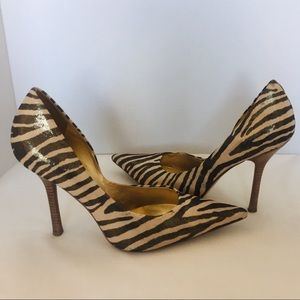 Guess by Marciano Bronze/Gold Zebra Stilettos